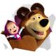 """Вафельные и сахарные картинки - """"Маша и Медведь"""""""