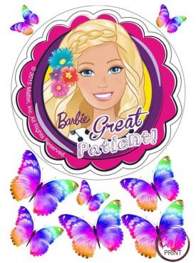 Картинка на торт «Барби» №002