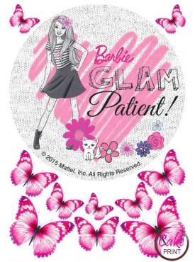 Сахарная картинка «Барби» №005