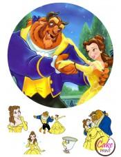 Картинка на торт «Красавица и чудовище» №002