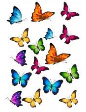 """Сахарные и вафельные съедобные картинки - """"Бабочки"""" №007"""