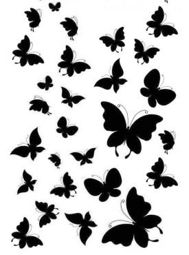 """Вафельные картинки """"Бабочки"""" №008"""