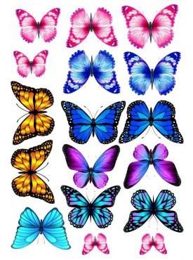 """Пищевые картинки на торты """"Бабочки"""" №010"""