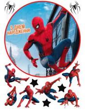Съедобная картинка «Человек паук» №001