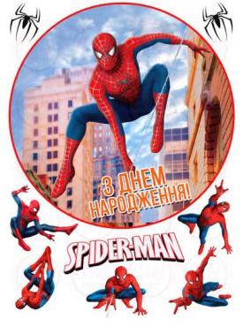 Картинка на торт «Человек паук» №002