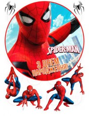 Пищевая картинка «Человек паук» №003