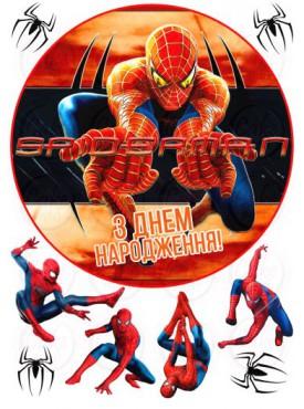 Вафельная картинка «Человек паук» №004