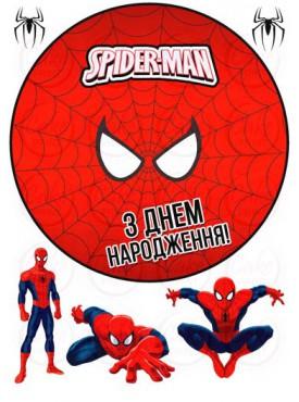 Сахарная картинка «Человек паук» №005