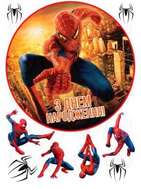 Вафельная картинка «Спайдермен» №006