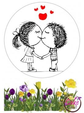Вафельная картинка «День влюбленных» №004