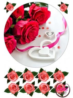 Сахарная картинка «День влюбленных» №005