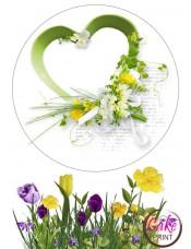 Съедобная картинка на торт «День влюбленных» №007