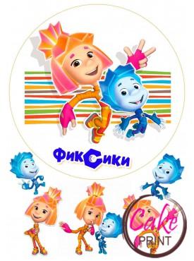Картинка на торт «Фиксики» №002