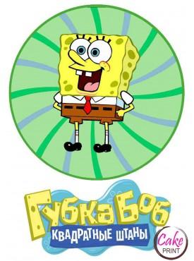 Съедобная картинка «Губка Боб» №001
