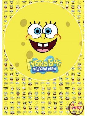 Картинка на прямоугольный торт (формат 21х30) - «Губка Боб» №002