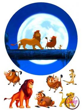 Съедобная картинка «Король Лев» №001