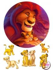 Картинка на торт «Король Лев» №002