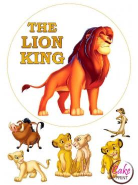 Пищевая картинка «Король Лев» №003