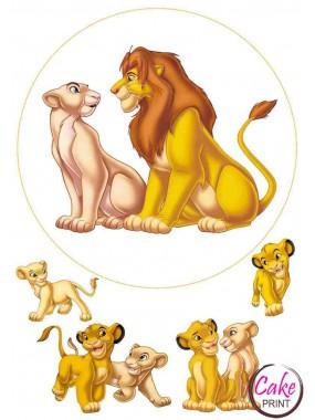 Вафельная картинка «Король Лев» №004