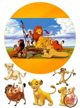 Сахарная картинка «Король Лев» №005