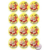 Вафельная и Сахарная картинка на мафин или капкейк «Козаки» №008 (набор 12 шт.)