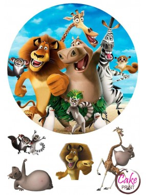 Съедобная картинка «Мадагаскар» №001