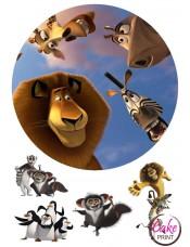 Картинка на торт «Мадагаскар» №002