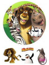 Вафельная картинка «Мадагаскар» №004