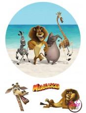 Сахарная картинка «Мадагаскар» №005