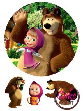 Пищевая картинка «Маша и Медведь» №003