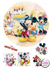 Вафельная картинка «Микки Маус» №004