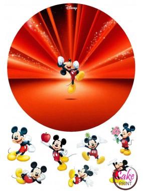 Сахарная картинка «Микки Маус» №005