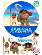 Сахарная картинка «Моана» №005