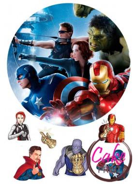 Съедобная картинка «Мстители» №001