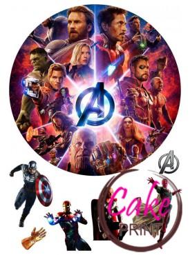 Вафельная картинка «Мстители» №004