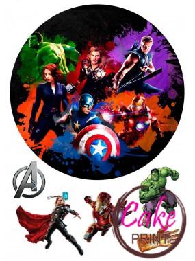 Сахарная картинка «Мстители» №005