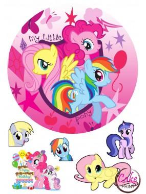 Съедобная картинка «Мой маленкий пони» №001