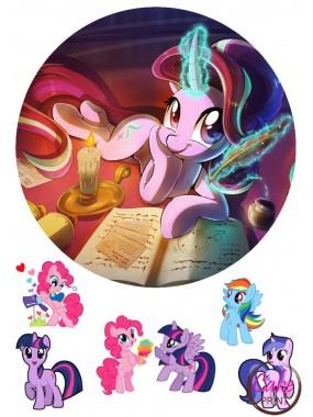 Картинка на торт «Мой маленкий пони» №002