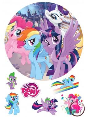 Вафельная картинка «Мой маленкий пони» №004
