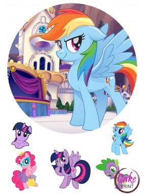 Сахарная картинка «Мой маленкий пони» №005