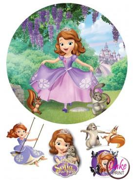 Съедобная картинка «Принцесса София» №001