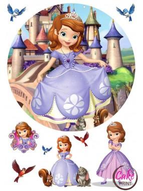 Вафельная картинка «Принцесса София» №004