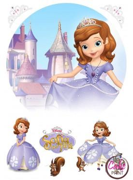 Сахарная картинка «Принцесса София» №005