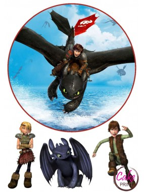 Съедобная картинка «Приручить дракона» №001