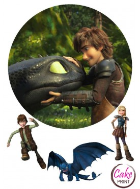 Вафельная картинка «Приручить дракона» №004