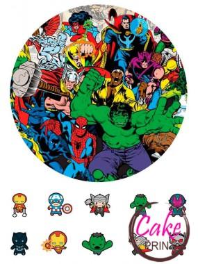 Съедобная картинка «Супергерои» №001