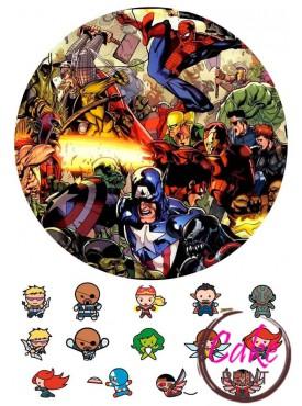 Картинка на торт «Супергерои» №002