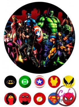 Пищевая картинка «Супергерои» №003