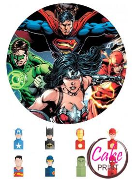 Вафельная картинка «Супергерои» №004