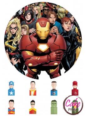 Сахарная картинка «Супергерои» №005